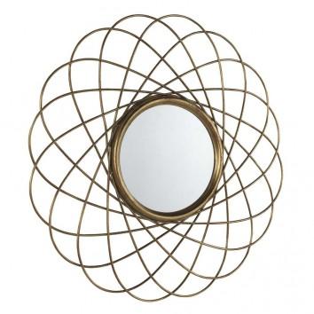 Espejo de metal estilo Art decó - 90x90x3cm