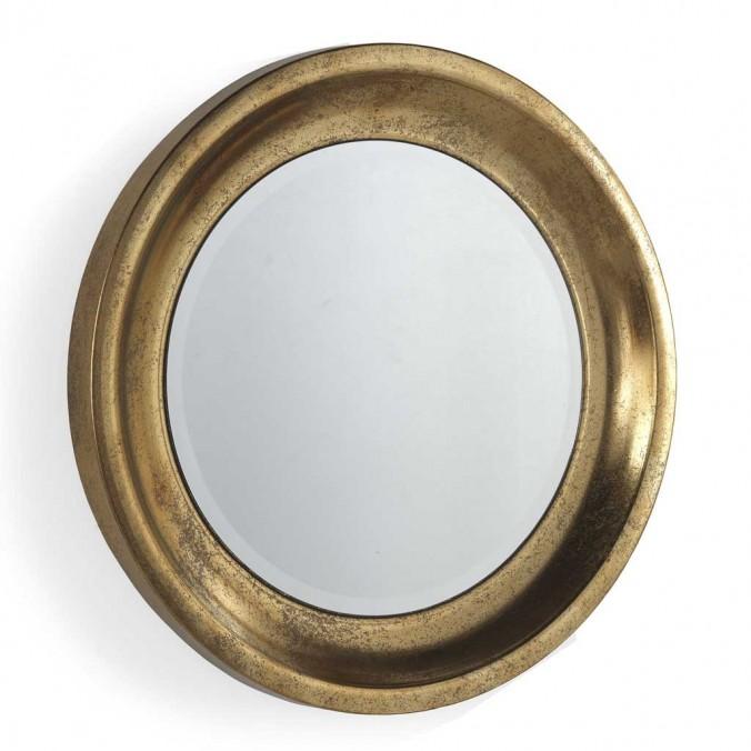 Espejo de metal estilo Art decó - 71x71x6cm