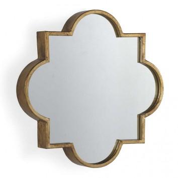 Espejo de metal estilo Art decó - 56x56x7cm