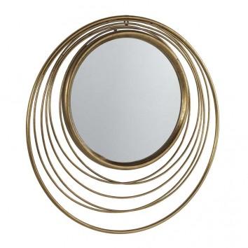 Espejo de metal estilo Art decó - diámetro 73cm x 3cm