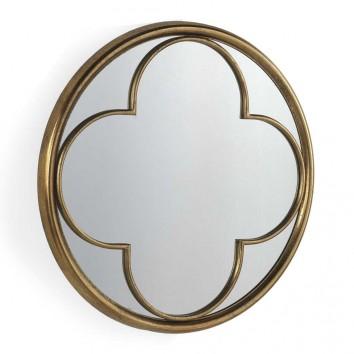 Espejo de metal estilo Art decó - diámetro 71cm x 6cm
