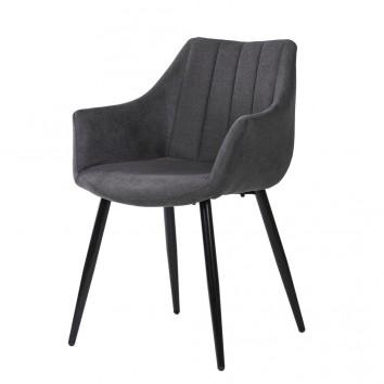 Sillón estilo Mid Century Grey Dark 56x59x84h