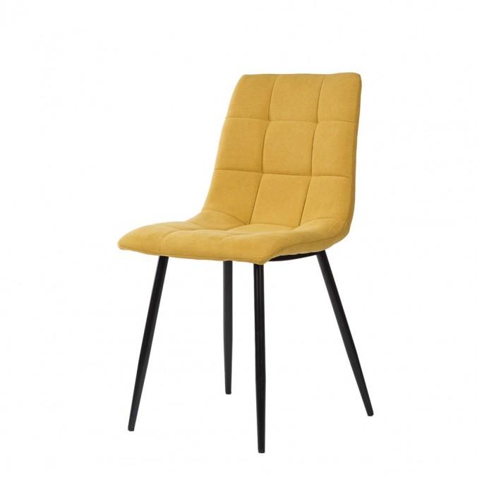 Silla diseño contemporáneo mostaza- 45x56x86h
