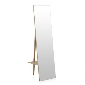 Espejo de pie estilo nórdico 45x160cm en abedul
