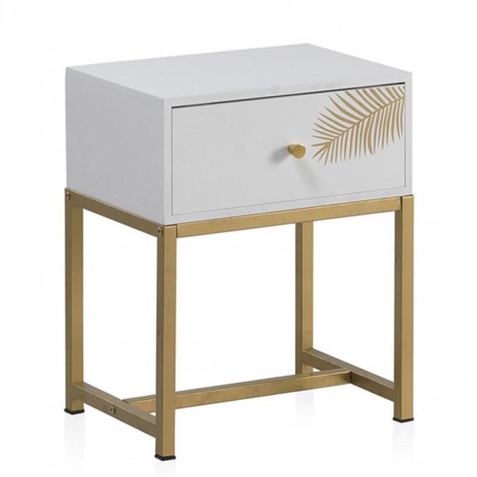 Mesita con un cajón estilo Art deco 40x30x50h