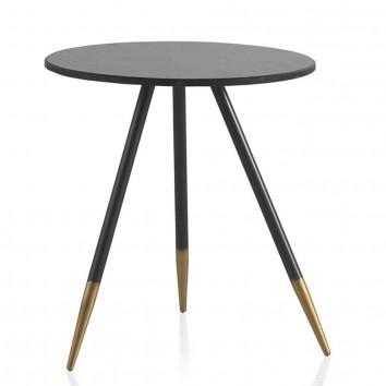 Mesa auxiliar estilo Art Decó marmol - 40x45h