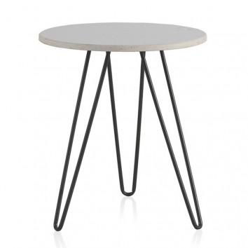 Mesa auxiliar estilo Vintage marmol - 40x43h