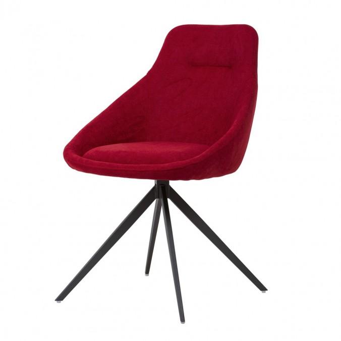 Silla estilo Mid Century rojo -56x59x85h