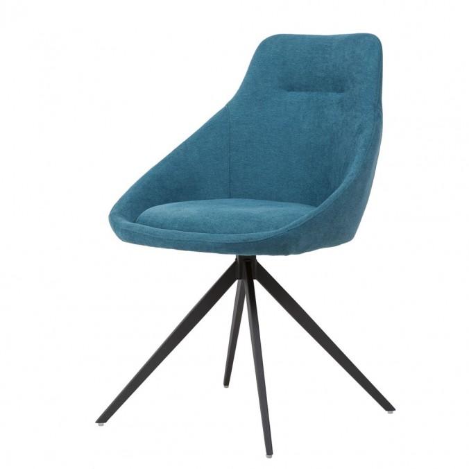 Silla estilo Mid Century azul -56x59x85h