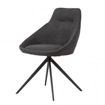 Silla estilo Mid Century dark grey -56x59x85h