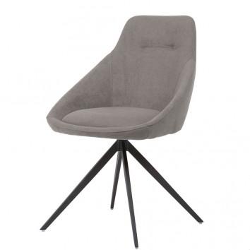 Silla estilo Mid Century light grey -56x59x85h