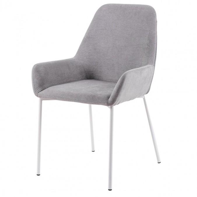 Silla diseño con tapizado gris claro y oscuro 58x58x89h