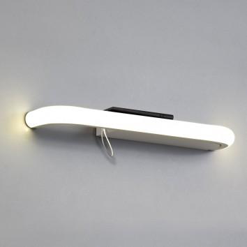 Lámpara aplique de pared LED 4000K con repisa y USB