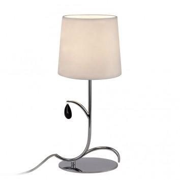 Lámpara de mesa estilo clásico cromo 1 luz