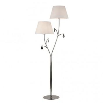 Lámpara de pie estilo clásico cromo 2 luces