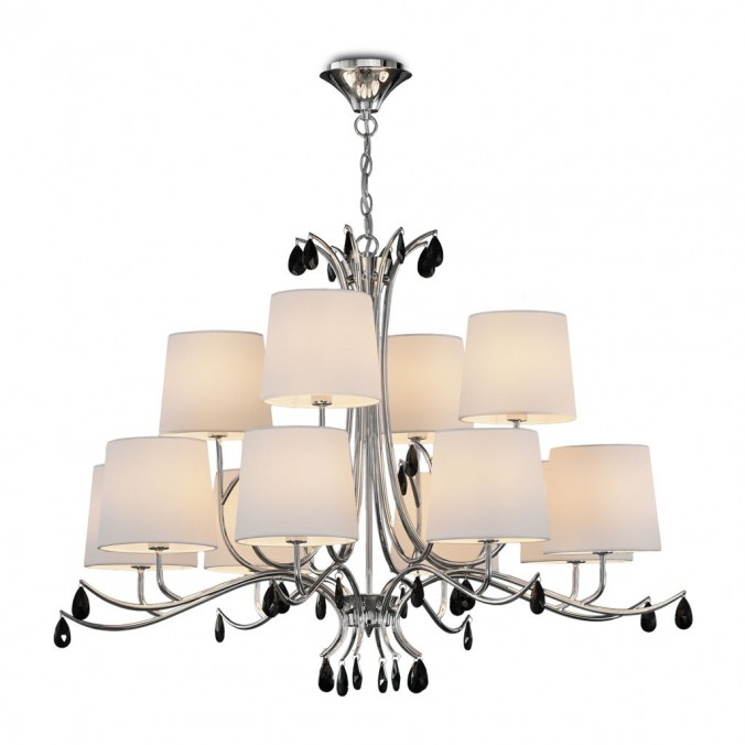 Lámpara de techo estilo clásico cromo 12 luces