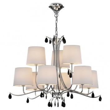 Lámpara de techo estilo clásico cromo 9 luces