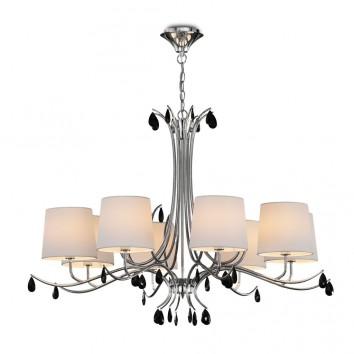 Lámpara de techo estilo clásico cromo 8 luces