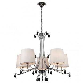 Lámpara de techo estilo clásico cromo 5 luces