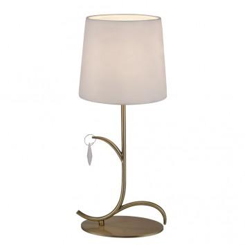 Lámpara de mesa estilo clásico dorado 1 luz