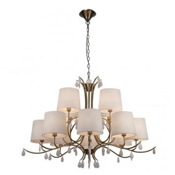 Lámpara de techo estilo clásico dorado 12 luces