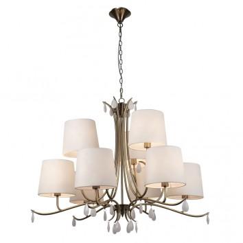 Lámpara de techo estilo clásico dorado 9 luces
