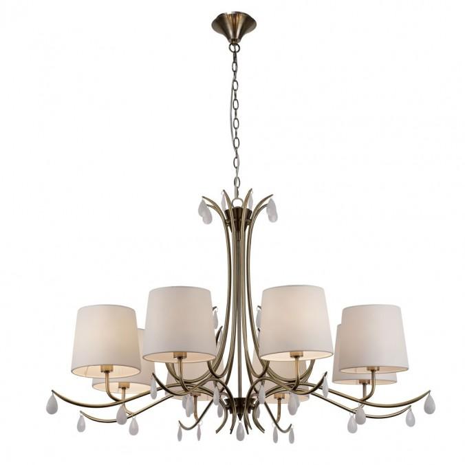 Lámpara de techo estilo clásico dorado 8 luces