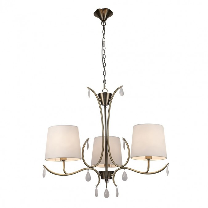Lámpara de techo estilo clásico cromo 3 luces