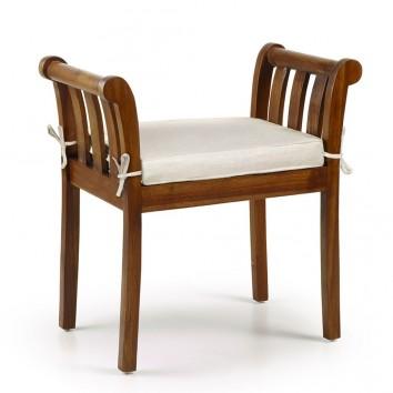 Banqueta estilo provenzal madera de mindi - 65x37x65h