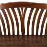 Banco estilo colonial madera natual oscuro - 117x47x76h