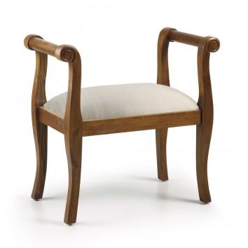 Banqueta estilo clásico madera de mindi - 65x40x73h