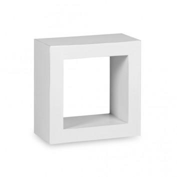 Estantería de pared madera mindi blanco 40x20x40h