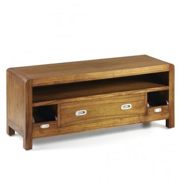 Mueble TV 3 cajones estilo colonial mindi 115x40x47h