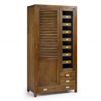 Armario estilo colonial madera mindi 105x55x200h