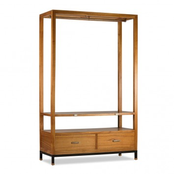 Mueble colgador madera mindi natural claro 120x50x190h