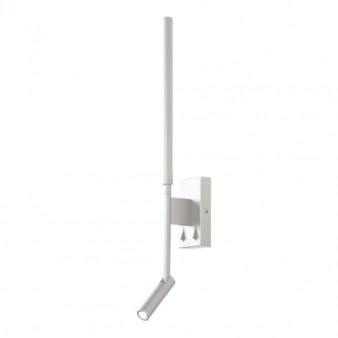 Lámpara aplique Torch blanco LED con lector