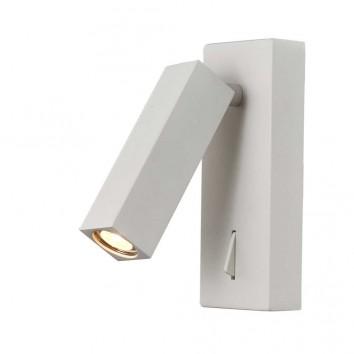 Lámpara aplique de lectura blanco luz LED 3W