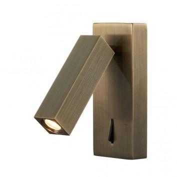 Lámpara aplique de lectura bronce luz LED 3W