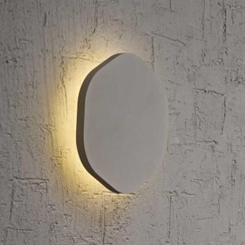 Aplique de pared o techo hexagonal LED 14cm plata