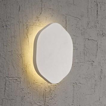 Aplique de pared o techo hexagonal LED 14cm blanco