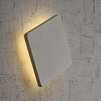 Aplique de pared o techo LED cuadrado 18cm plata