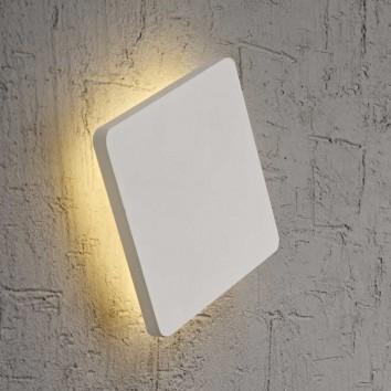 Aplique de pared o techo LED cuadrado 18cm blanco