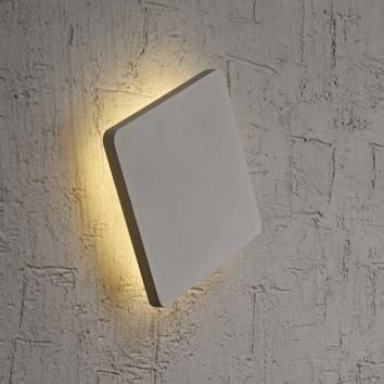 Aplique de pared o techo LED cuadrado 13cm plata