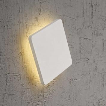 Aplique de pared o techo LED cuadrado 13cm blanco