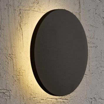 Aplique de pared o techo LED redondo 30cm negro