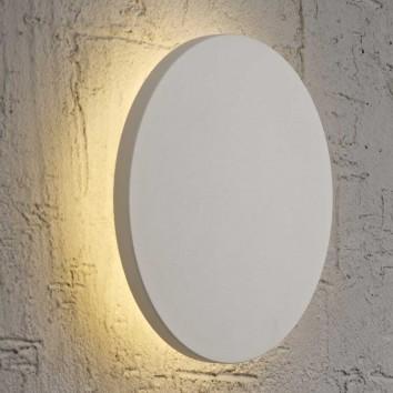 Aplique de pared o techo LED redondo 38cm blanco