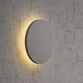 Aplique de pared o techo LED redondo 18cm plata