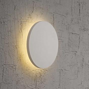 Aplique de pared o techo LED redondo 18cm blanco