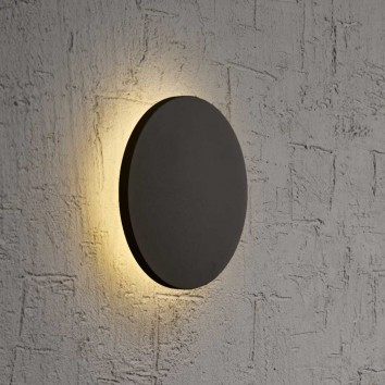 Aplique de pared o techo LED redondo 13cm negro