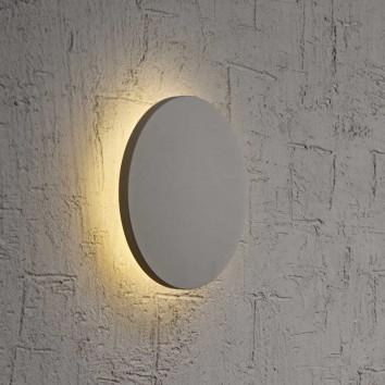 Aplique de pared o techo LED redondo 13cm plata